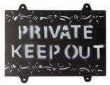 Wooden Private Keep Out Sign